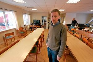 Chef. Per Gustafsson, chef för evakueringsboendet och Arbetsmarknadsenheten i Lekeberg.