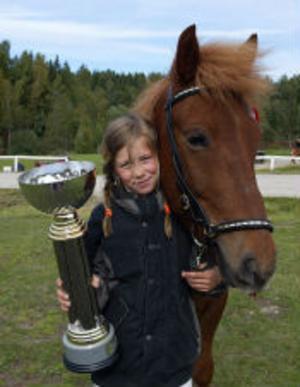 Johanna Berg, 11-årig klubbmästare på Gjafar.