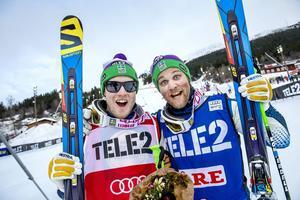 Victor Öhling Norberg och Michael Forslund svarade för säsongens bästa svenskdubbel i lördags med seger och en tredjeplats. Trots att Forslund inte gillar Årebacken.