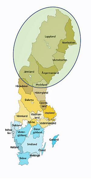 Den nya skogsägarföreningens geografi omfattar halva Sverige.