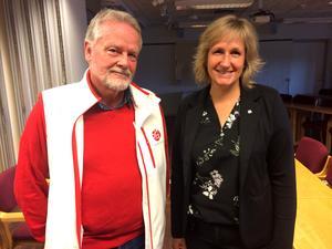 Oppositionsråd Lennart Sohlberg (S) och kommunalråd Anna Hed (C).