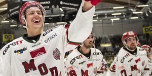 Victor Berglunds kontrakt med Modo löper ut efter denna säsong. Foto: Erik Mårtensson/TT.