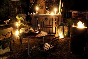 Mysiga kvällar i utebaren och ett ställe att umgås på när det kommer gäster.