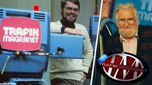 Den 15 mars är det 40 år sedan som det populära TV-programmet Trafikmagasinet hade premiär, från studion i Falun. Programmet leddes av Carl-Ingemar Perstad och Christer Glenning.  Foto: Privat/SVT