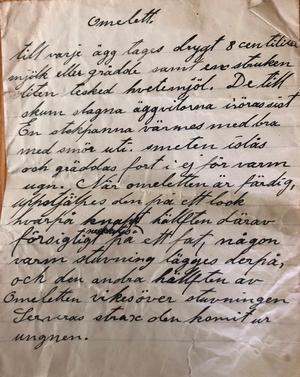 Under renoveringen hittade Anders Lindberg flera recept från de som tidigare bott i torpet.