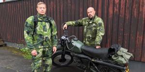 Kent Malm och Jonny Malmsten, Frivilliga Motorcykelkåren deltar i sökandet.