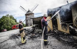I juli 2016 eldhärjades värdshuset på Torekällberget. Det totalförstördes i branden. Foto: Edis Potori