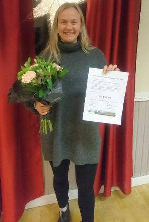Lisa Brandén, målvakt i Hede/Vemdalen, har tilldelats ett stipendium från Karl-Johan Göranssons minnesfond. Foto: Jörgen Tjärnås.
