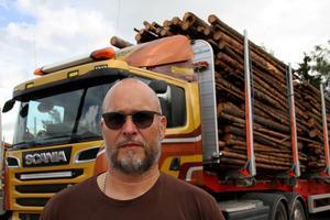 Tomas Bagge kör Göranssons 74-tonnare så gott som dagligen.