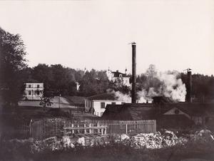 Färna bruk i Skinnskatteberg omkring 1900. Foto: Okänd