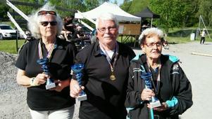 Birgitta Helin, Lars E Karlsson och Berit Lindberg vann DM-guld. Foto: Privat