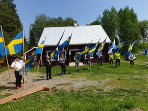 Nationaldagsfirande på Ådalsbyn.  Foto: Carin Edin