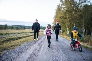 Familjen Lindnord består av Mikael, Helena, Philippa, 6, och Thor, 4.