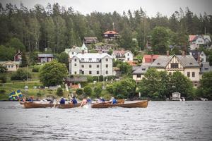 Ängelsberg från vattnet på Oljeöns dag den 9 juni 2019.