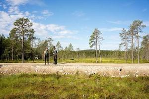 Rolf Lundqvist och Mattias Ahlstedt. Foto: Naturskyddsföreningen i Dalarna.