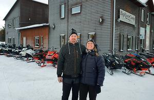 Berne Brenje och hans fru Annica förverkligat sin dröm om ett eget hotell. Foto: Towa Wolgers