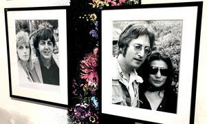 Linda och Paul McCartney samt John Lennon och Yoko Ono fångade av Stig Svedfelts kamera.