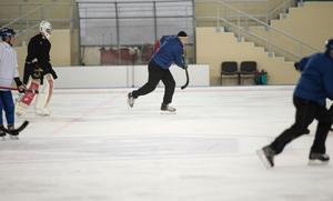 Antti Parviainen drar iväg – Finländsk stafett på söndagsträningen.