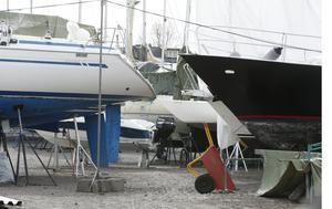 Uppställda båtar. Foto: Terje Pedersoen/TT