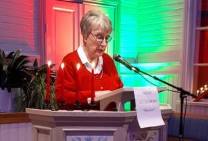 Ulla Lindblad-Ossendorf  presenterade programmet. Foto: Ingrid Sammils