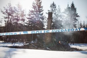 Villabranden i Sjöhagen utanför Fagersta den 19 mars.