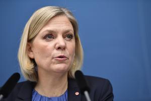 Finansminister Magdalena Andersson (S) lade fram sin vårändringsbudget i veckan. Foto: Naina Helén Jåma/TT