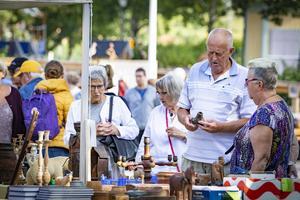 Det var mycket folk som kom till Ahllöfsparken på lördagen. Foto: Lennye Osbeck