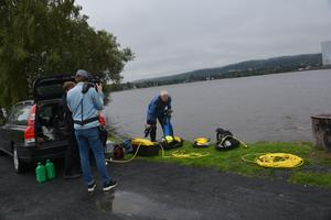 Filminspelning om vattnets kvalitet.