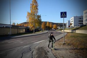 Vägen mellan Ådalsskolan och Magistern hör till de som troligen får 30 som maxhastighet.