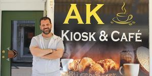 Ägaren Elias Akharas hoppas på kiosken kommer kunna bli en kedja.