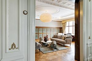 Takstuckatur och väggmålningar ingår i Villa Svea. Foto: Kristian Pettersson/SE 360