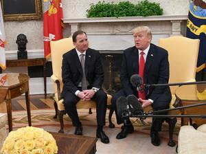 Sveriges statsminister Stefan Löfven möter president Donald Trump i Vita Huset. Henrik Montgomery/TT / NTB scanpix