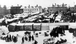 Gregoriemarknad 1905. Marknaden var vid den här tiden en stor fest som ÖP beskrev som:
