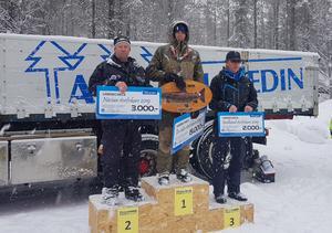 På prispallen efter tre deltävlingar kom Thomas Nilsson, Mikael Jönsson och Börre Ormang. Foto: Jonny Hedström.