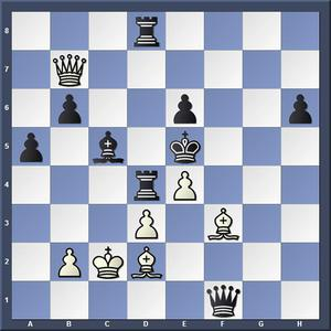 Lösning: 1.Dg7+Kd6 2.e5.