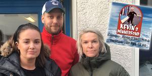 Sandra Eriksson, Andreas Eriksson och Johanna Karlsson är initiativtagarna bakom Kevins Minnesfond. Skärmdump: Instagram.com