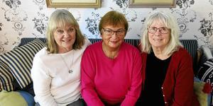 """Tre """"räddabarnare"""" som ser fram emot 100-årsjubileet den 21 januari 2020: Maud Eriksson, styrelsemedlem, Maria Brodecki, kassör och Margareta Elensky, tidigare ordförande."""