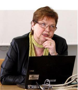 Utredaren Ingrid Palmér  föreslår att 80 statliga jobb ska flyttas från Stockholms län till Härnösand. Foto: Gunnar Stattin