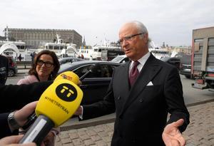 Svenska Akademiens högste beskyddare, kung Carl XVI Gustaf, uttalar sig nu om krisen i Akademien. Foto: Anders Wiklund / TT