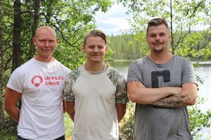Lägerledarna Tommie Larsson, Christian Edgren och Erik Andersson ser fram emot fyra händelserika dagar i Sottjärn.