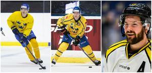 Jesper Boqvist, Joel Kellman och Simon Bertilsson åker alla med Tre Kronor för två landskamper nästa vecka.
