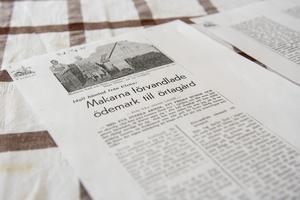 En artikel om paret som bodde i huset på Fjären under mitten på 40-talet. Likt Helene hade de gröna fingrar.