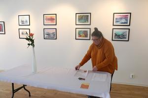 Maret Eriksson ställer ut konst på Konstpoolen i Nynäshamn i februari.