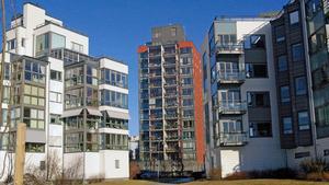 Modern bebyggelse på Lillåudden.