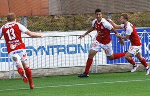 Emil Bellander blev målskytt för Sandviken i 2–1-segern.