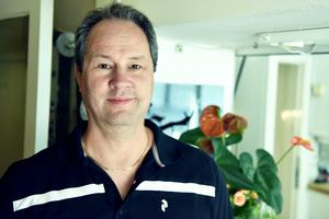 Håkan Carlsson hjälper till på hotellet men till vardags jobbar han på Gräv Kåhlén.