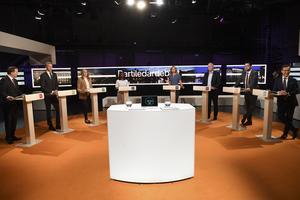 I söndags sände SVT-programmet Agenda en partiledardebatt. Foto: TT