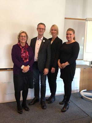 Moderaternas ordförande för de fyra nordligaste länsförbunden: Lena Asplund, Västernorrland, Anders Ågren, Västerbotten, Saila Quicklund, Jämtland, och Linda Frohm, Norrbotten.
