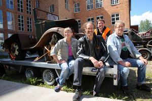 Kerstin Wenger,  Chrestian Willhans, Roland Ohlsson och längst bak, Johan Bergström från Sågmyra Event, som arrangerade träffen,
