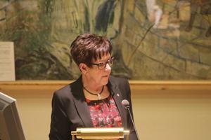 Christina Aspenryd, här i en debatt från år 2014, har arbetat länge för Hallstahammars socialdemokrater. Nu fick hon rädda årets 1 majdemonstration.